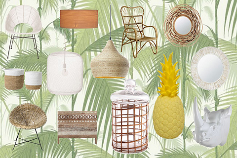 moodboard décoration jungle mydecolab