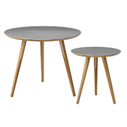 Table basse ronde bambou bloomingville (par 2)