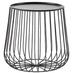 Bout de canapé cage fil métal