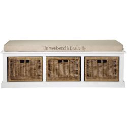 Banc comptoir blanc en bois