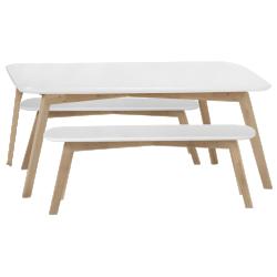 Set avec table et banc dante chêne