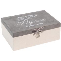 Boîte à bijoux secrets gris beige