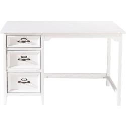 Bureau aurélien blanc en bois