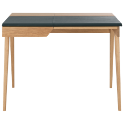 Beckett petit bureau en chêne et cuir