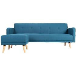 Canapé d'angle convertible réversible scandinave bleu ulla
