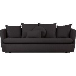 Canapé 3 places demi gris