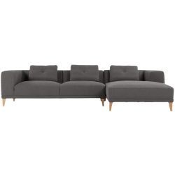 Canapé d'angle droit sullivan gris