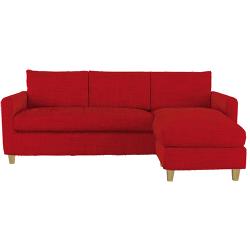 Chester canapé d'angle réversible en tissu tresse