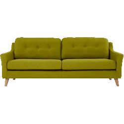 Canapé 3 places rufus vert