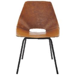 Chaise tonneau en cuir amsterdam