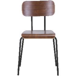 Chaises 2 x haywood noyer