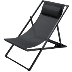 Chaise split anthracite métal