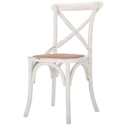 Chaises 2 x rochelle blanc