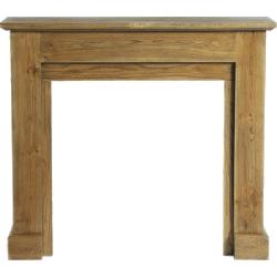Cheminée décorative en bois