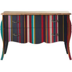 Commode néon multicolore en bois