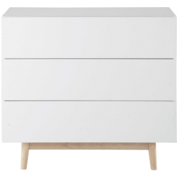 Commode artic blanc en bois
