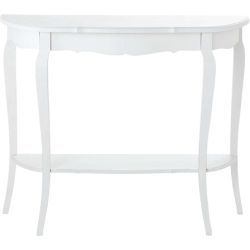 Table séraphine blanc en bois