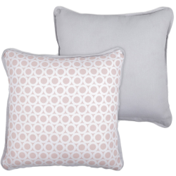 Coussin rolli rose blush