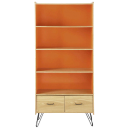 Bibliothèque twist orange en bois