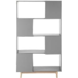 Bibliothèque artic gris en bois