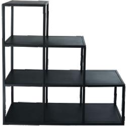 étagère edison noir métal 1