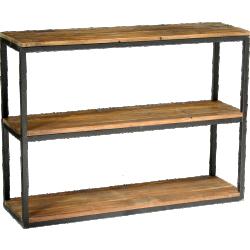Grande étagère noire et bois au design industriel boldy