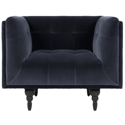 Fauteuil connor velours marine