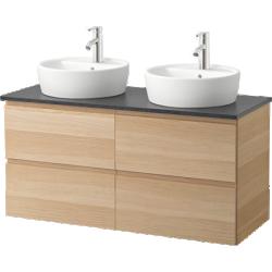 Godmorgon/aldern / törnviken - meuble lavabo av lavabo à poser
