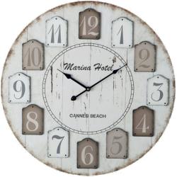 Horloge marina beige en bois
