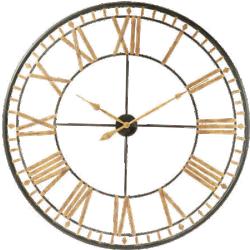 Horloge la vallière noir métal