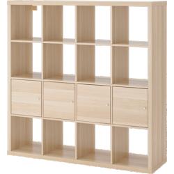 Kallax - étagère avec 4 accessoires