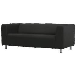 Klippan - canapé 2 places noir