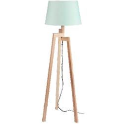 Lampadaire pastel en bois
