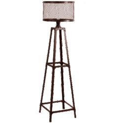 Lampadaire louis marron métal