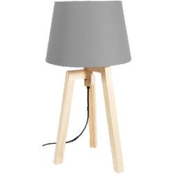Lampe gris en bois