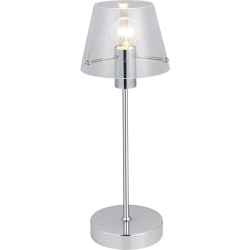 Lampe brilliant verre transparent