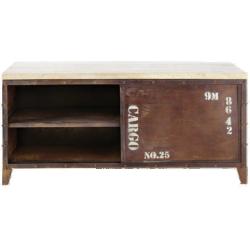 Meuble tv atlantide rouille métal