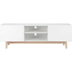 Meuble tv artic blanc en bois