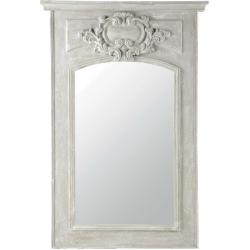 Miroir garance gris en bois