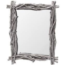 Miroir fjord en bois