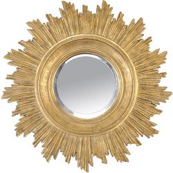 Miroir soleil doré sun