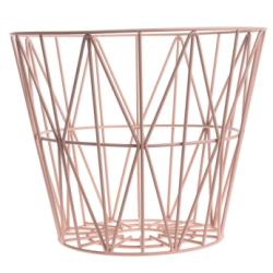 Panier wire moyen - rose