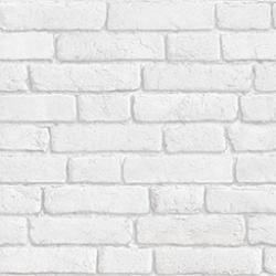 Papier peint briques anciennes blanc