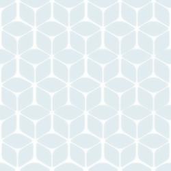 Papier peint motif géométrique bleu nelio