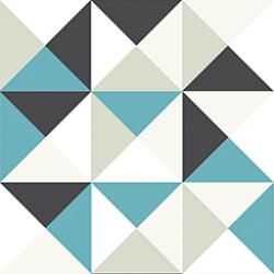 Papier peint polygone bleu