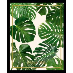 Cadre décoratif feuille tropicale tropisk