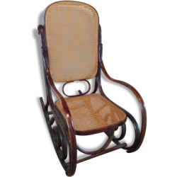 Rocking-chair canné