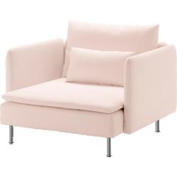 Söderhamn - fauteuil rose clair