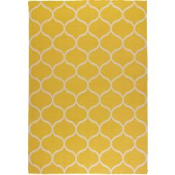 Stockholm - tapis tissé à plat jaune à motifs