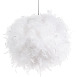 Suspension feathers blanc